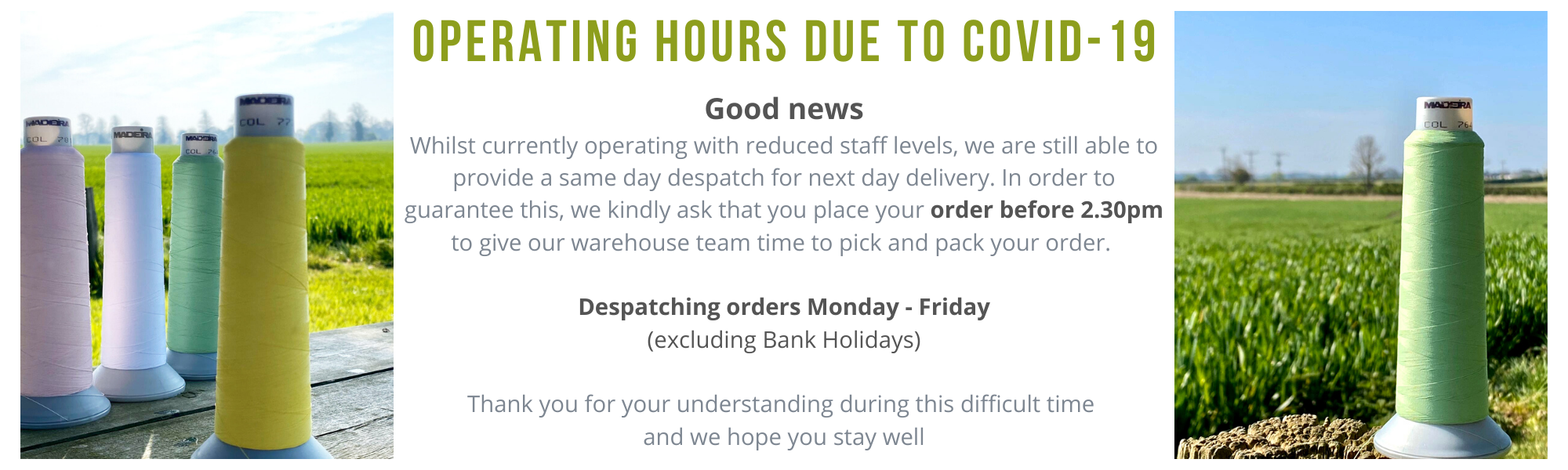 New operating hours May
