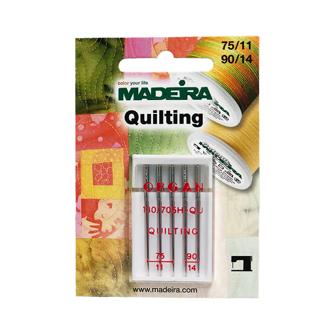 5 Needle Pk 75/11 + 90/14 QUILTING MADEIRA