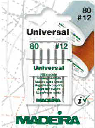 85/12 UNIVERSAL SEWING NEEDLES x5