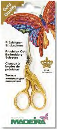 MADEIRA GOLD PLATED STORK SCISSORS