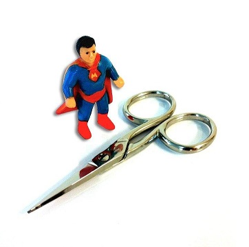 SUPERMAN LARGE HANDLE CURVED SCISSOR 4´