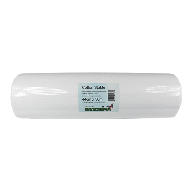 COTTON STABLE Iron-on Tear Away Stabiliser 90cm x 200m ROLL