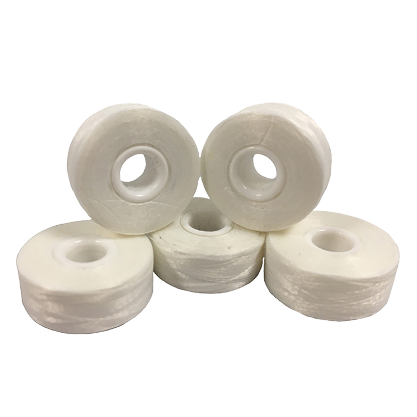 UNSIDED L WHITE BOBBINS 144x120M