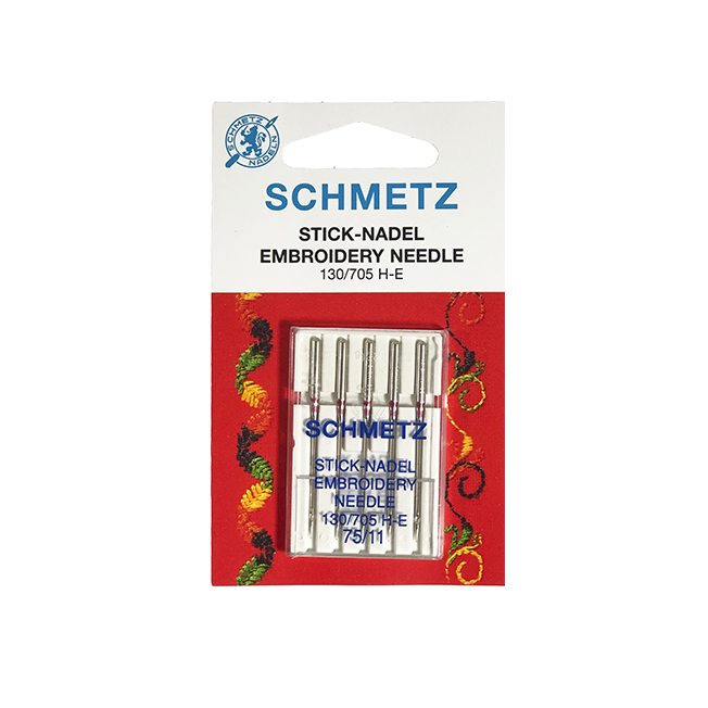 SCHMETZ EMB.75 LIGHT BALL (CARD OF 5) NEEDLES