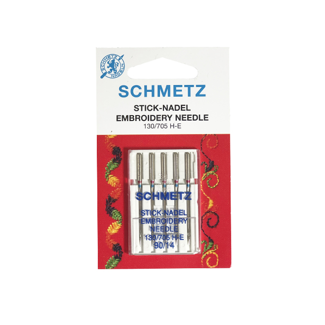 SCHMETZ EMB.90 LIGHT BALL (CARD OF 5) NEEDLES
