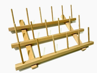 WOODEN CONE RACK-18PEG