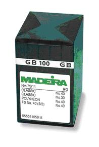 100/16 MADEIRA BROTHER PR NEEDLES x100 BALLPOINT